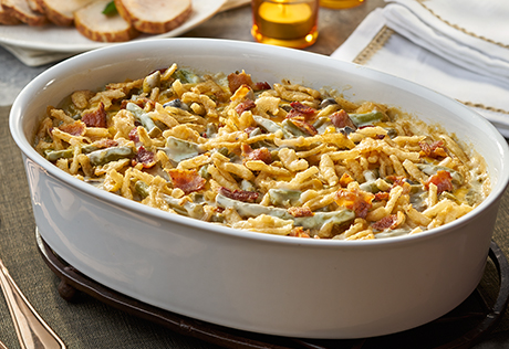 Https Www Campbells Com Kitchen Recipes Bacon Cheddar Green Bean Casserole