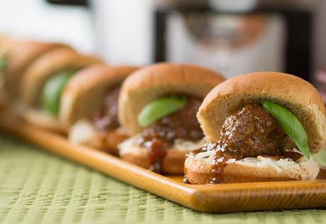 Slow-Cooked Italian-Style Sausage Meatball Sliders
