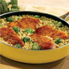 Skillet Chicken with Garden Broccoli Brown Rice
