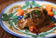 Chicken Breasts Simmered in Poblano Cream