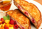 Stuffed French Toast Melba