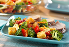Vegetable Salad with Sun-Dried Tomatoes & Croutons