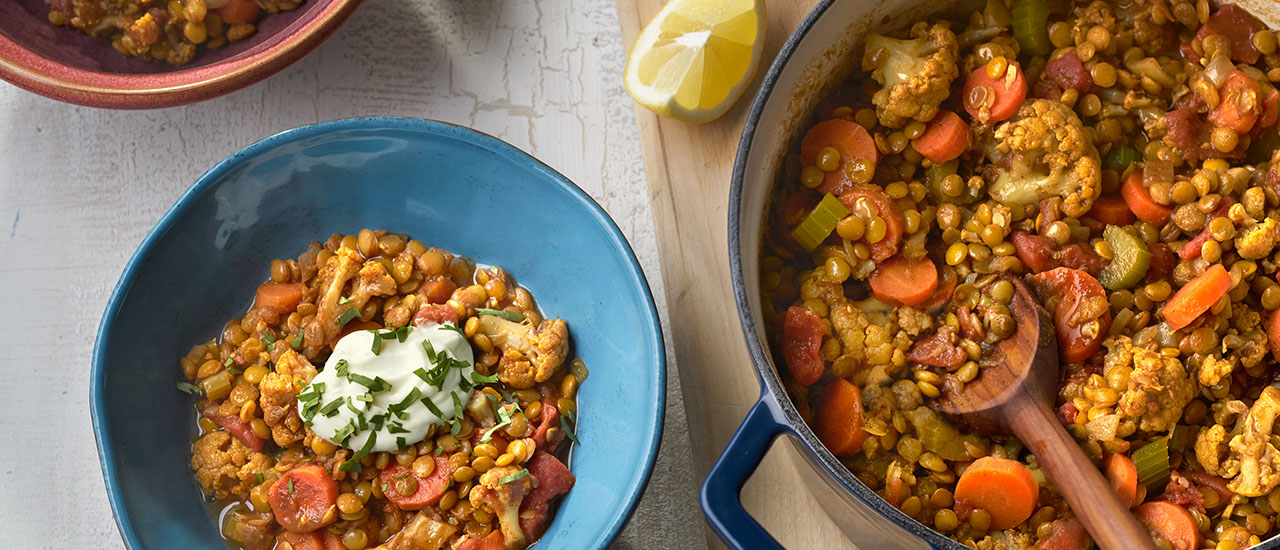 Cauliflower & Lentil Stew