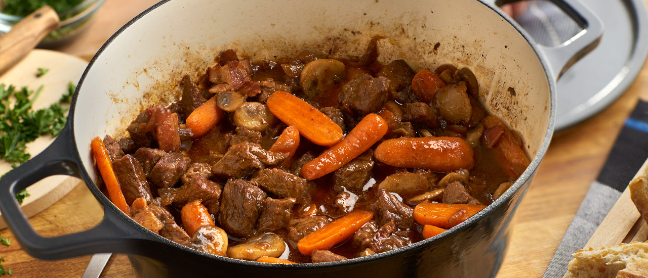 Easy One Pot Beef Bourguignonne