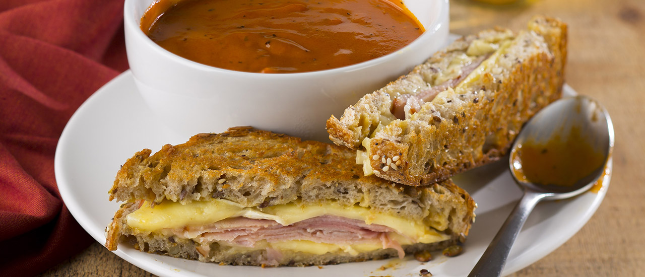 Honey Ham & Brie Grilled Cheese