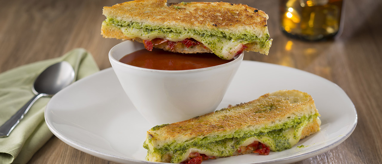 Pesto Provolone Grilled Cheese