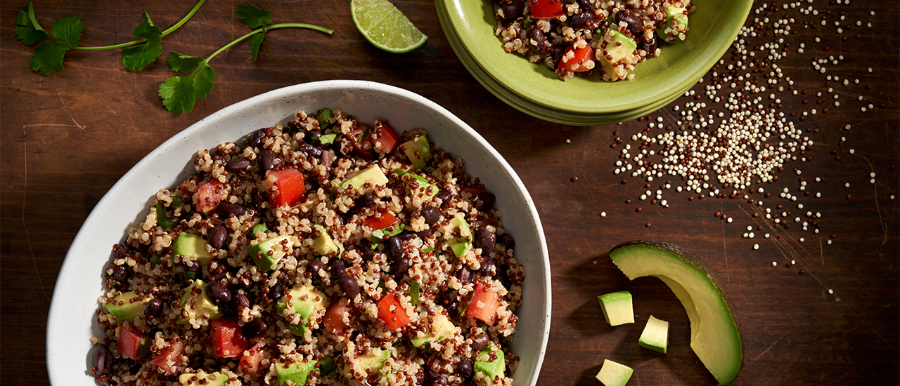 Quinoa Salad with Cilantro, Lime & Avocado