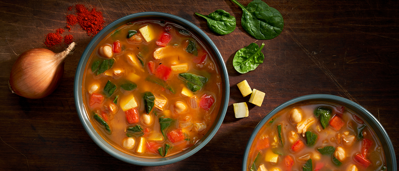 Spanish-Style Chicken & Chickpea Soup