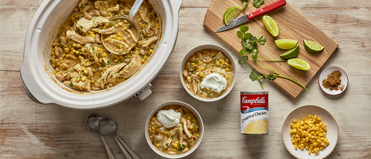 Slow Cooker Corn and Chicken Chili