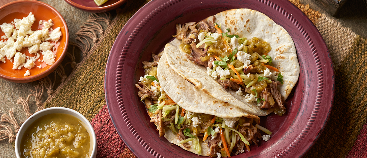 Slow Cooked San Antonio Carnitas Tacos