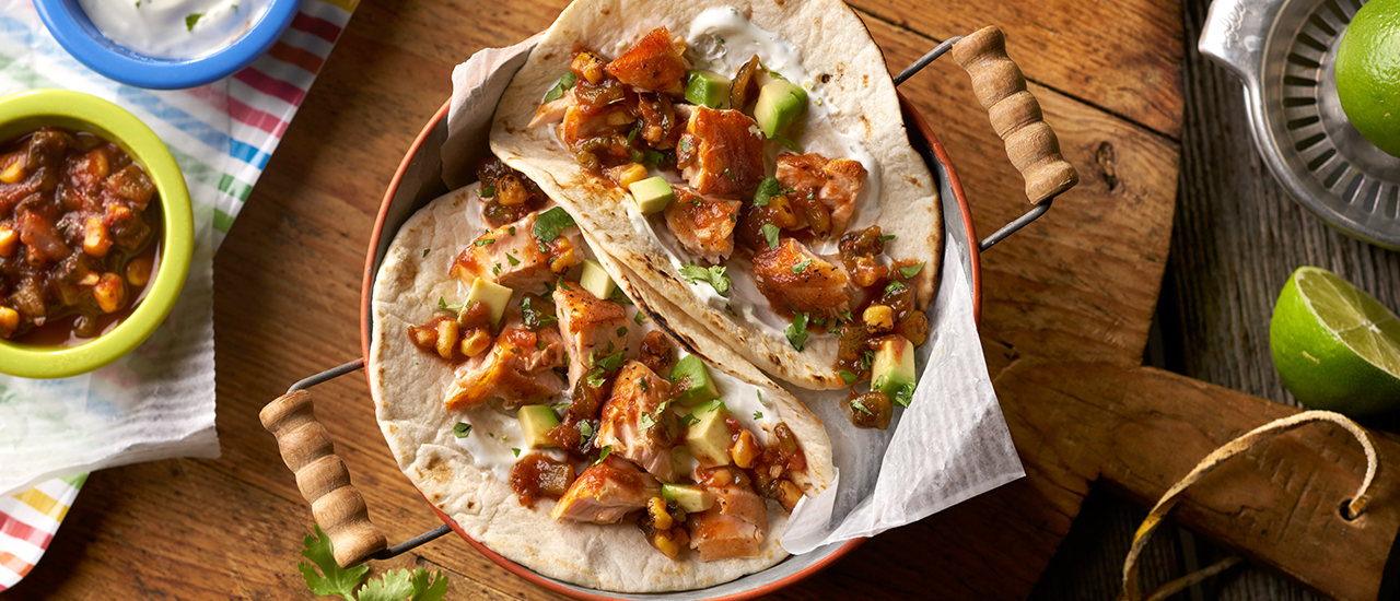 Pan-Seared Pacific Salmon Tacos