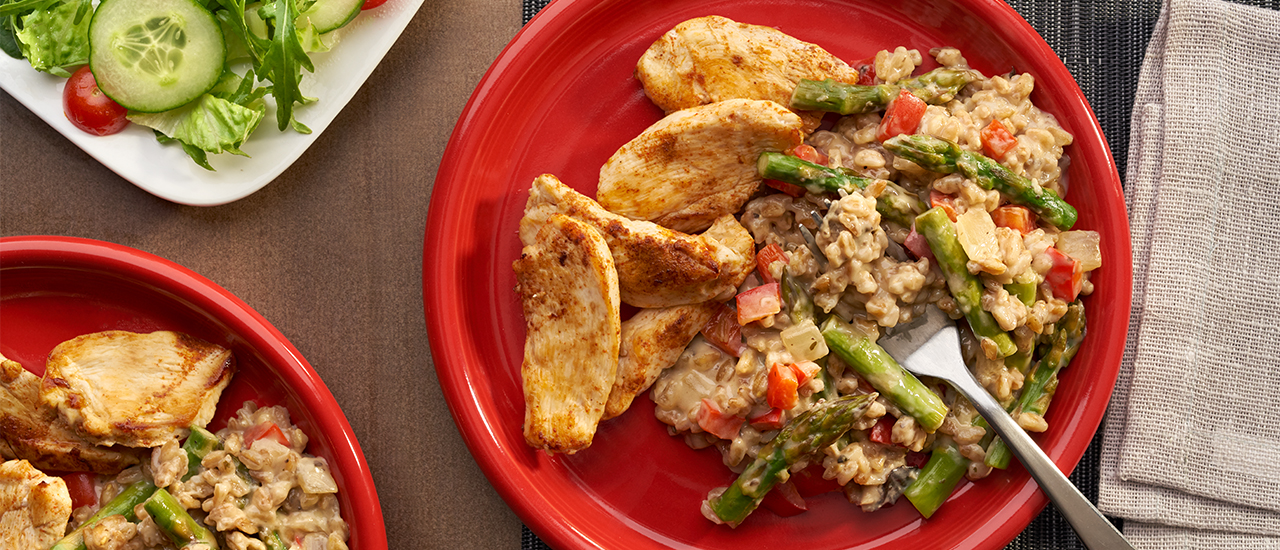 Chicken & Asparagus with Farro