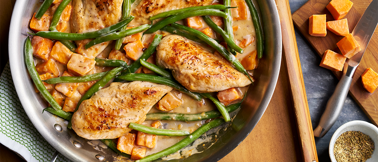One-Pan Chicken and Sweet Potato Skillet