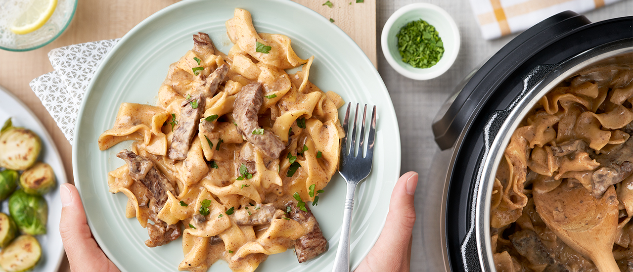 Instant Pot Beef Stroganoff Recipe Campbell S Kitchen