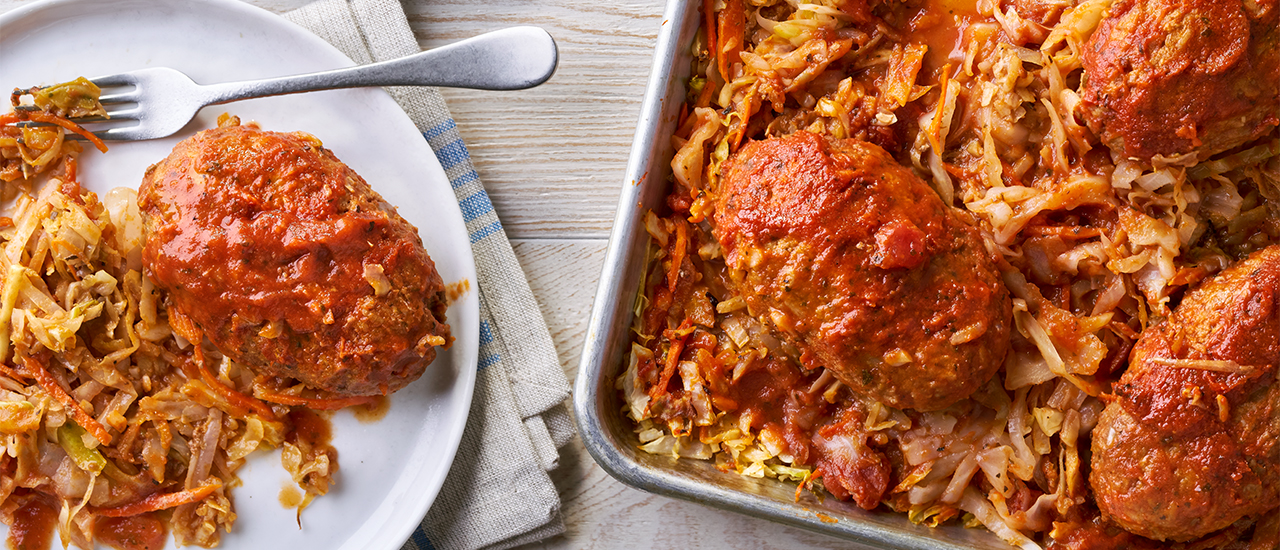 Sheet Pan Unstuffed Cabbage