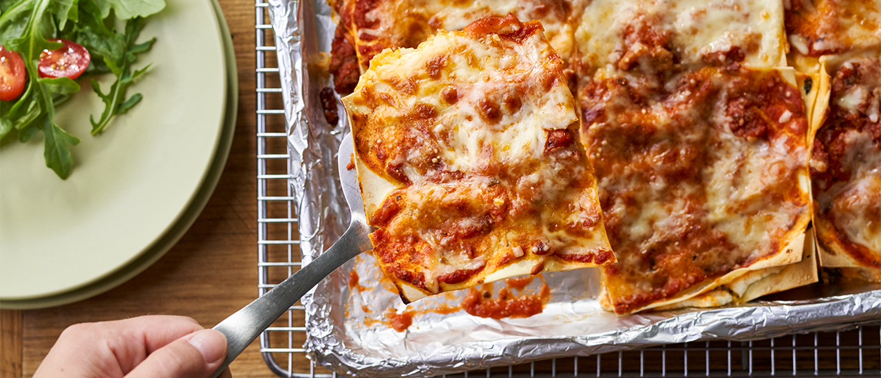 Easy Sheet Pan Lasagna