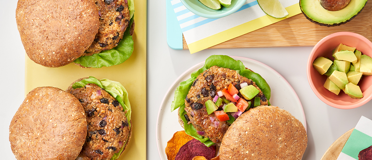 Sweet Potato Vegan Burgers