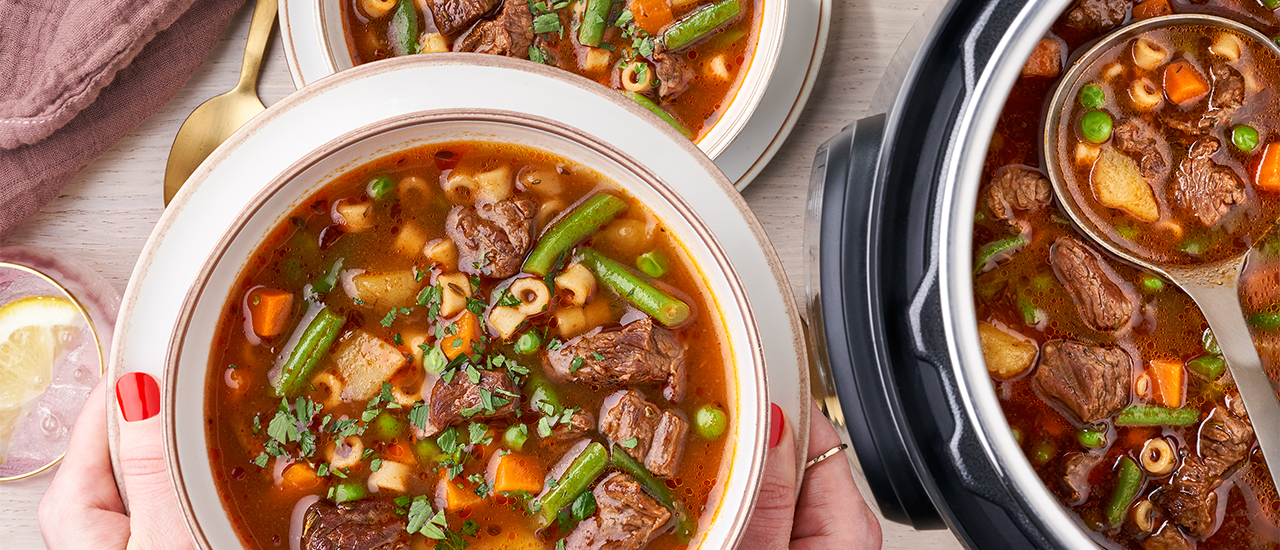 Instant Pot​® Vegetable Beef Soup