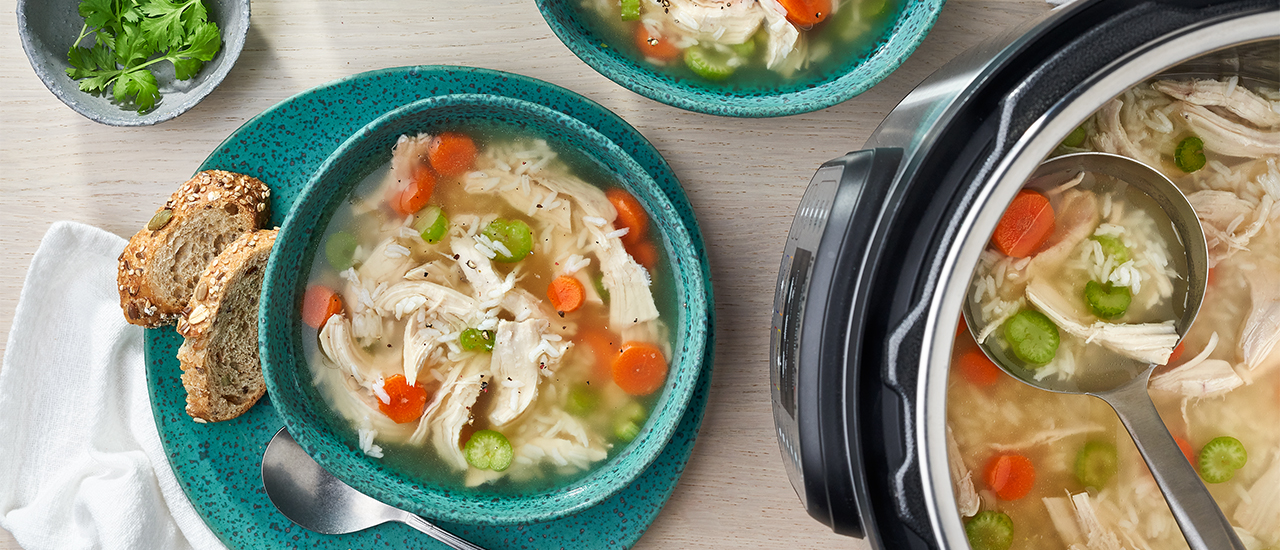 Instant Pot® Chicken Rice Soup