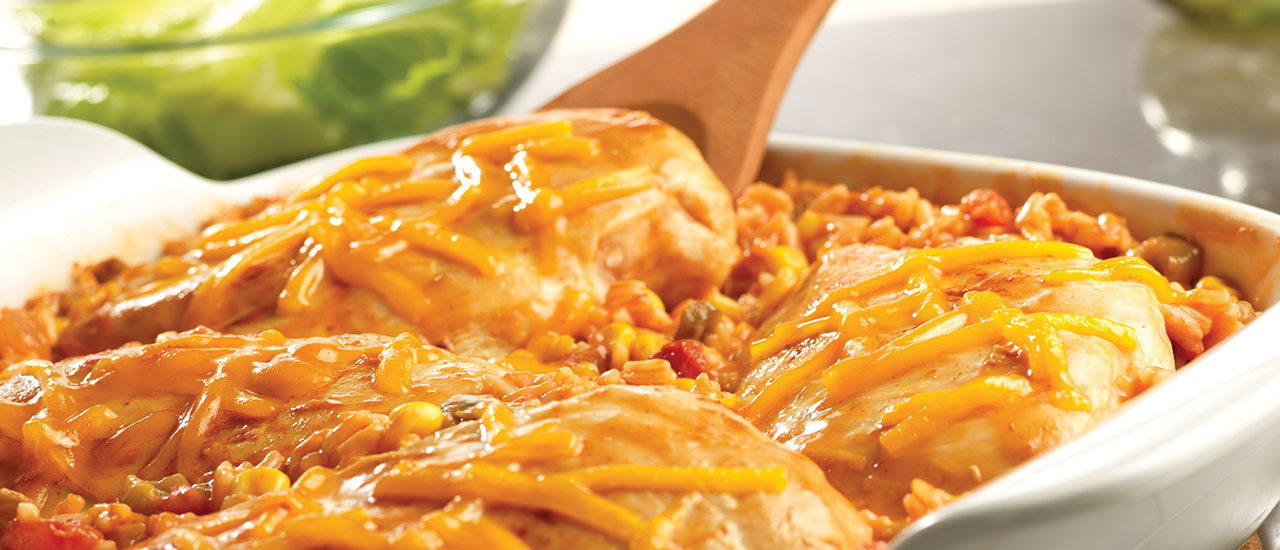 Tex-Mex Chicken & Rice Bake
