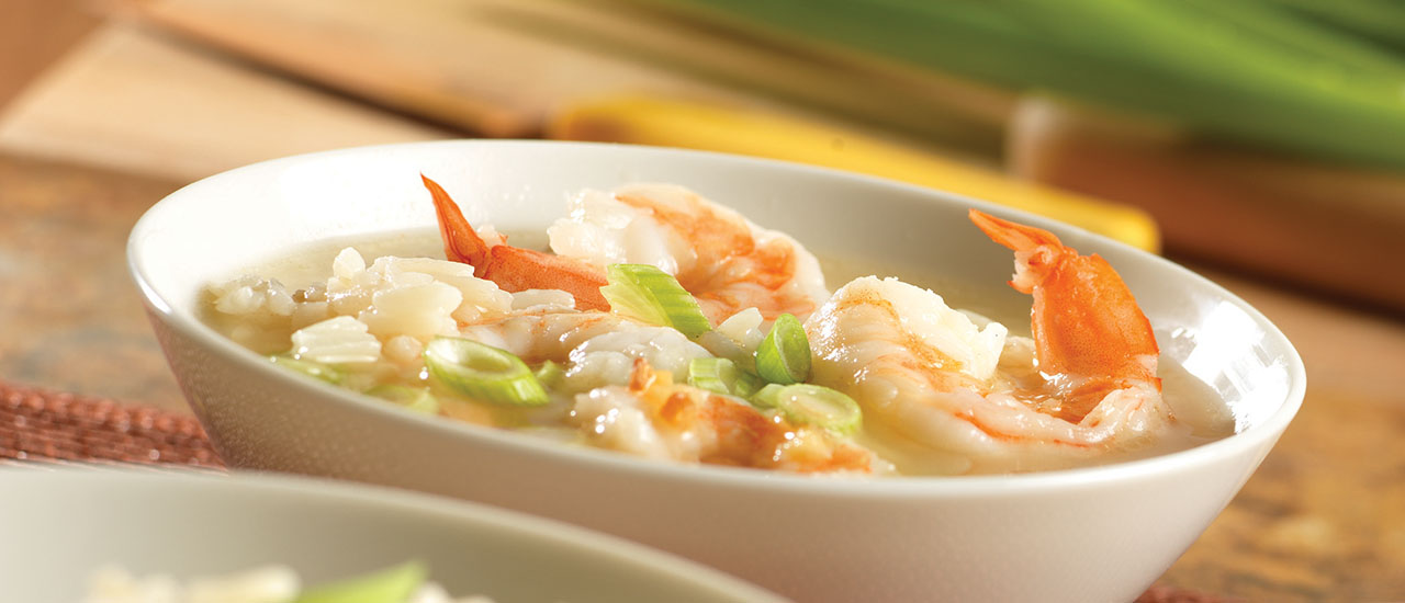 Brothy Shrimp & Rice Scampi