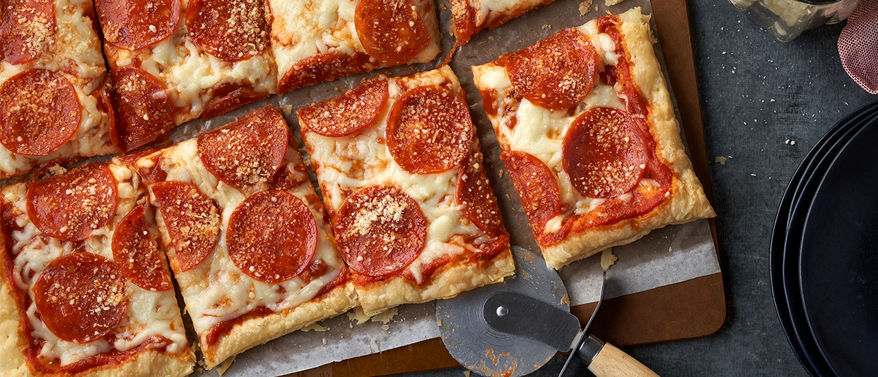 Puff Pastry Pepperoni Pizza