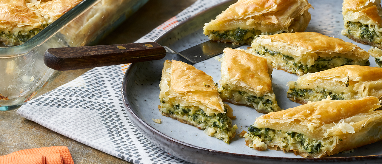 Spinach Pastry Diamonds