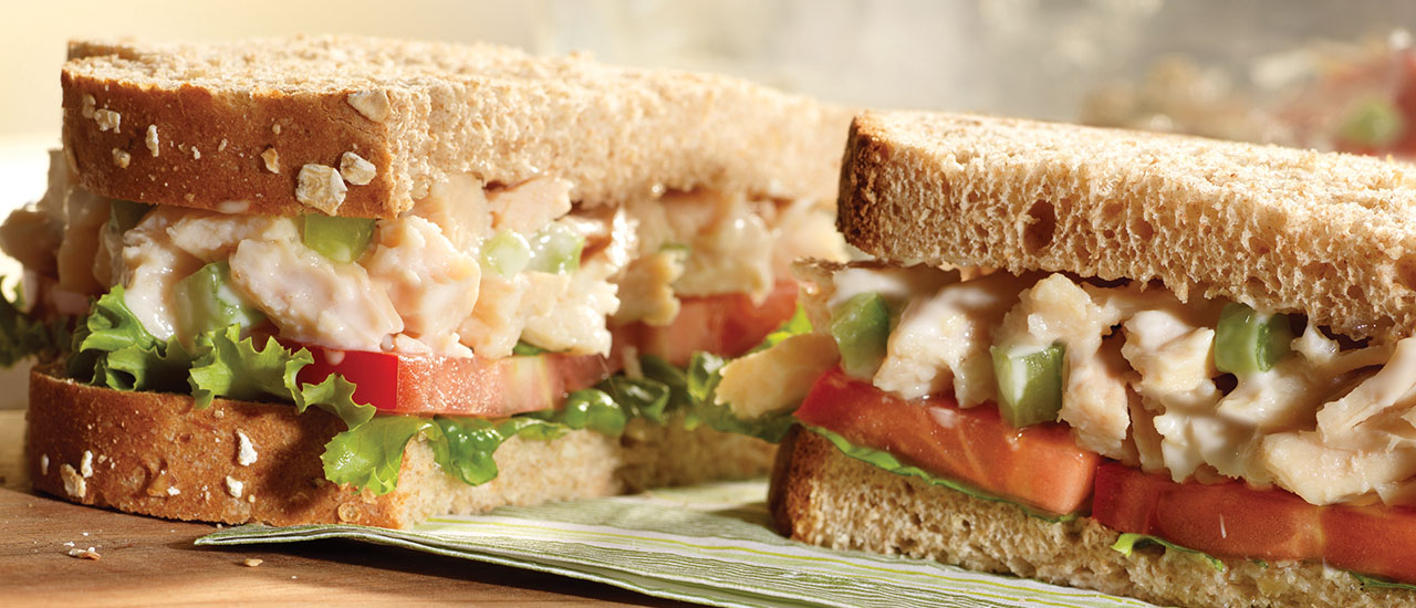 Lowfat Chicken Salad Sandwiches