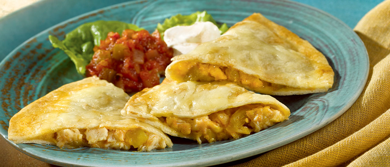 Monterey Jack Chicken Quesadillas