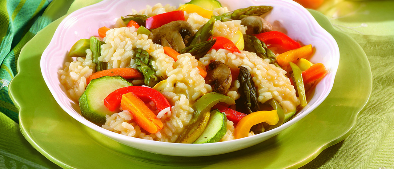 Roasted Spring Vegetable Risotto