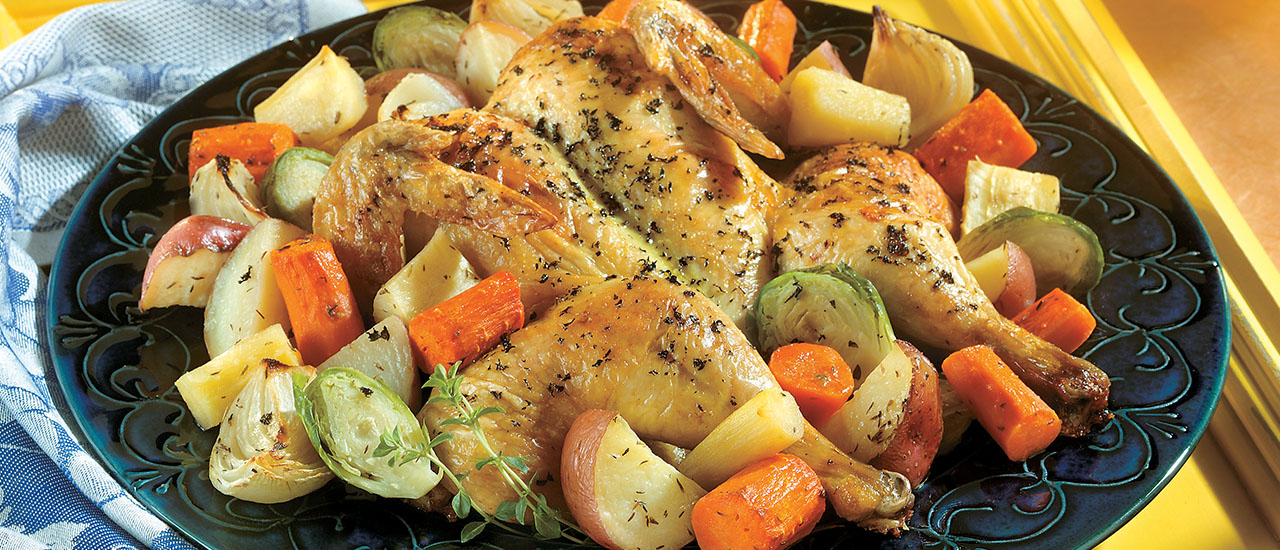 Thyme Chicken & Roasted Winter Vegetables