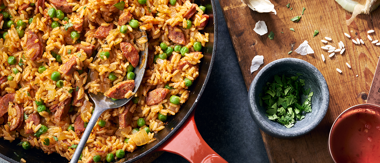 Zesty Rice with Chorizo