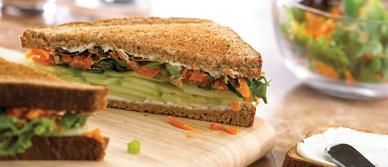 Spring Garden Vegetable Sandwiches