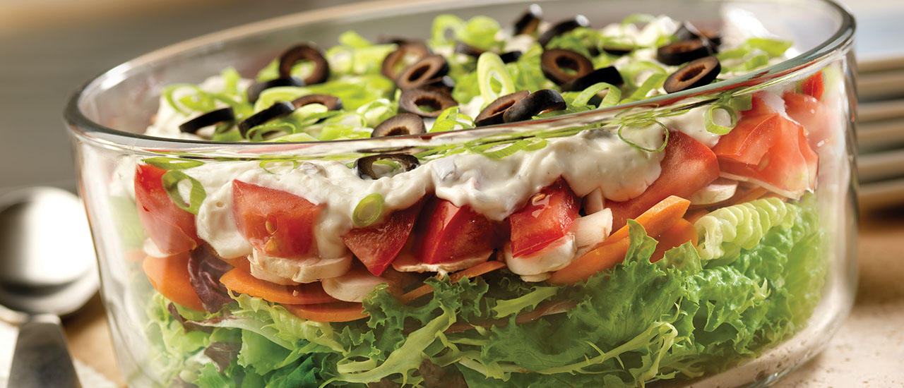 Company Buffet Layered Salad