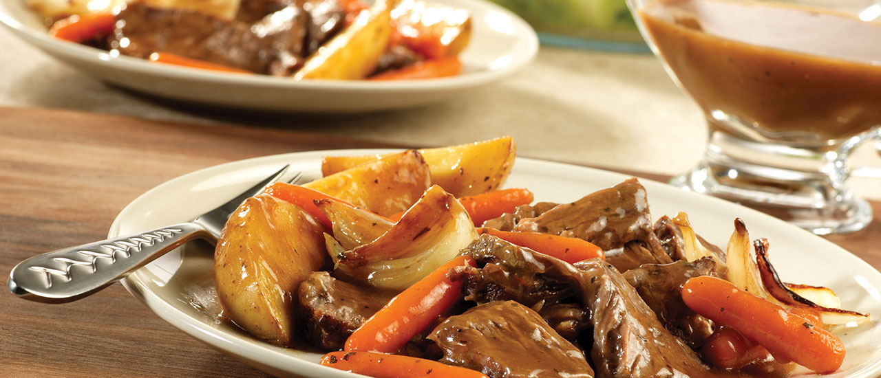 Slow Cooker Weekday Pot Roast & Vegetables