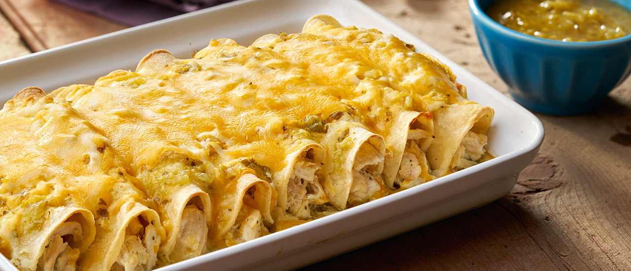 Cheesy Chicken Enchiladas Verde Pace Foods
