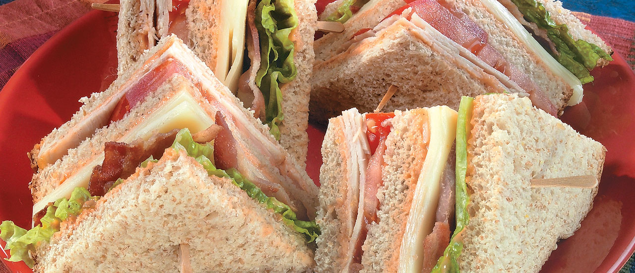 Turkey Club Sandwiches with the Works
