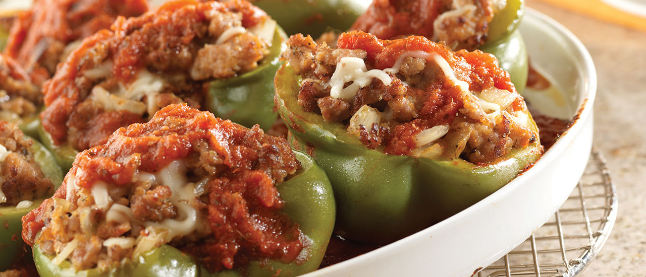 Sausage-Stuffed Green Peppers