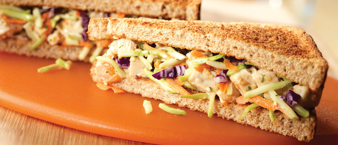 Asian Chicken Salad Sandwiches