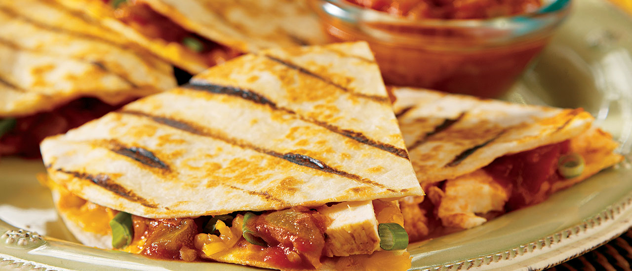 Spicy Grilled Quesadillas