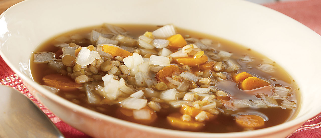 Slow Cooker Barley & Lentil Soup
