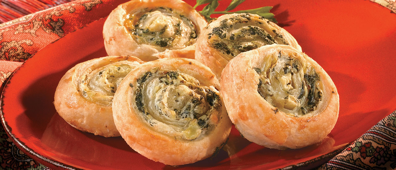 Artichoke and Spinach Swirls