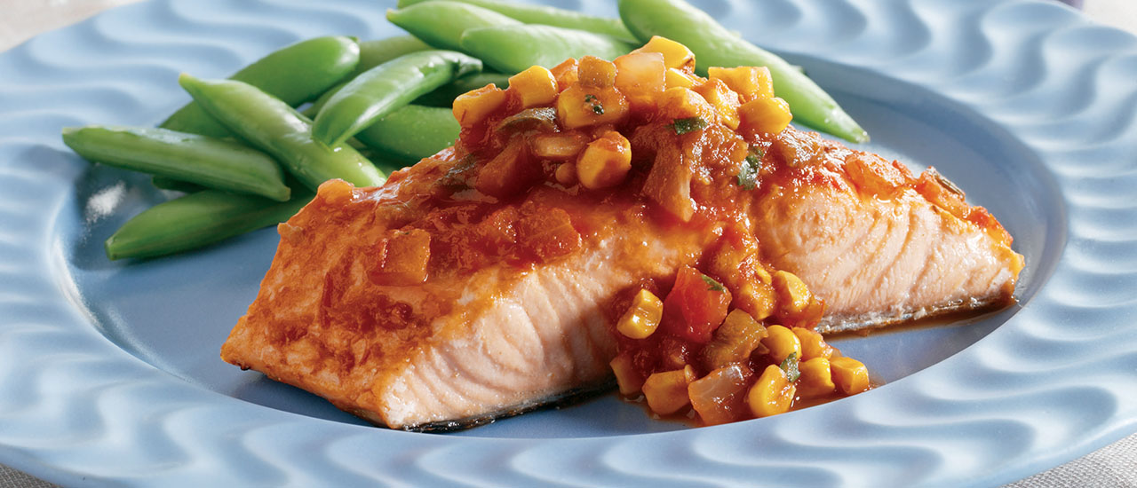 Pacific Coast Salmon with Pan-Roasted Corn Salsa
