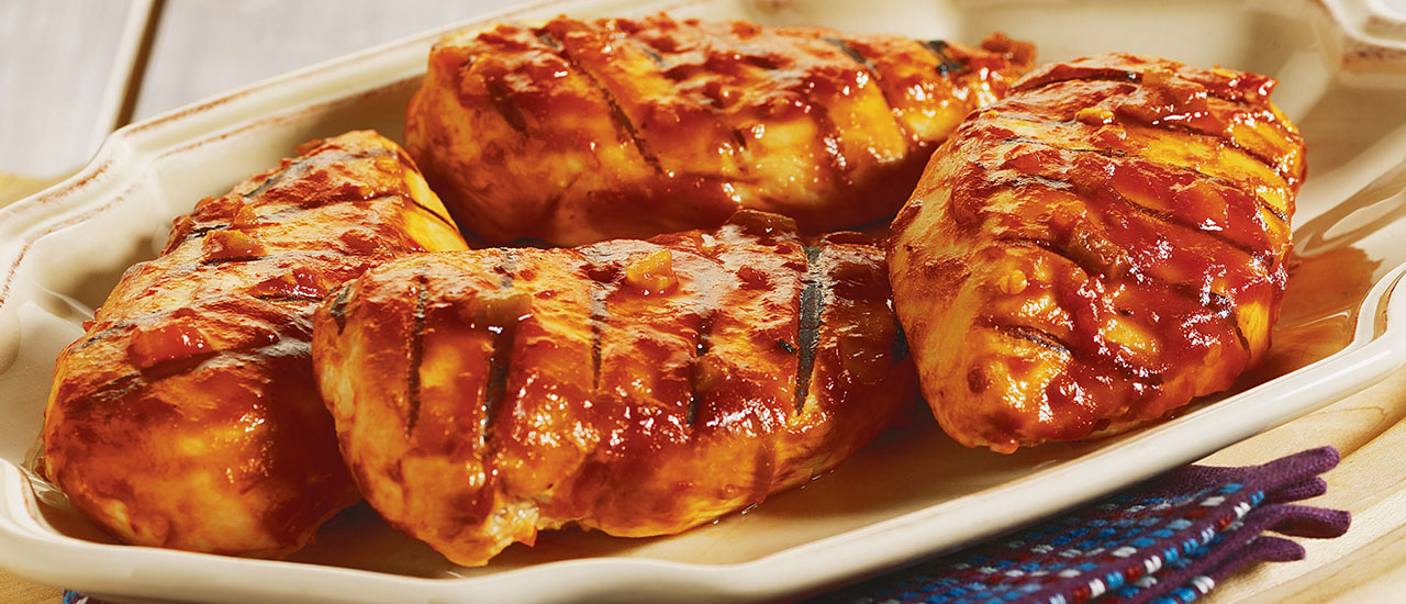 Grilled Picante BBQ Chicken