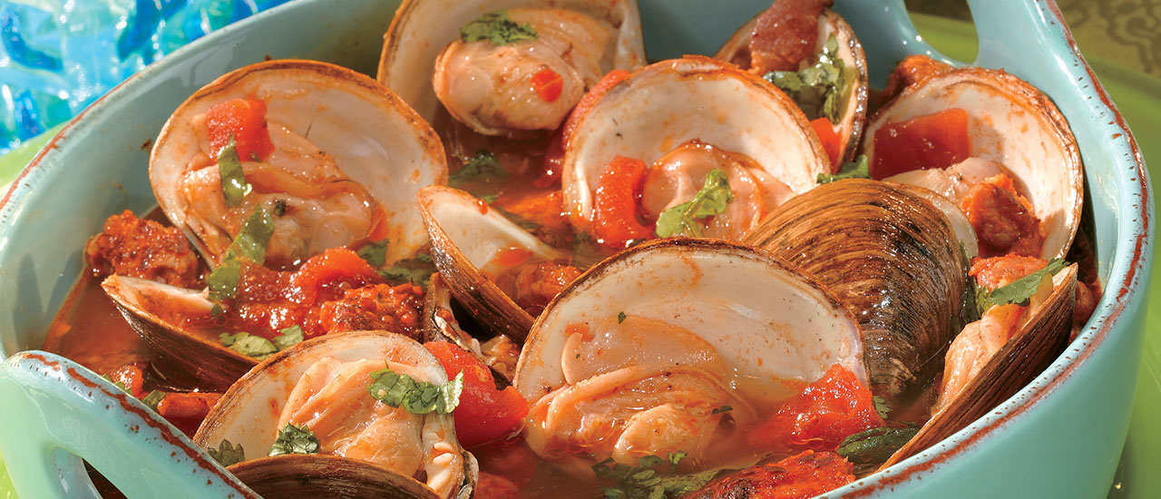 Portuguese-Style Steamed Clams