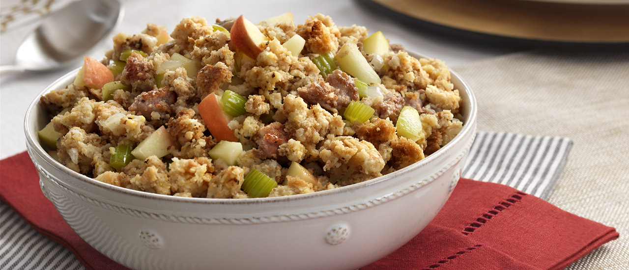 Sausage & Apple Stuffing Recipe | Campbell's Kitchen