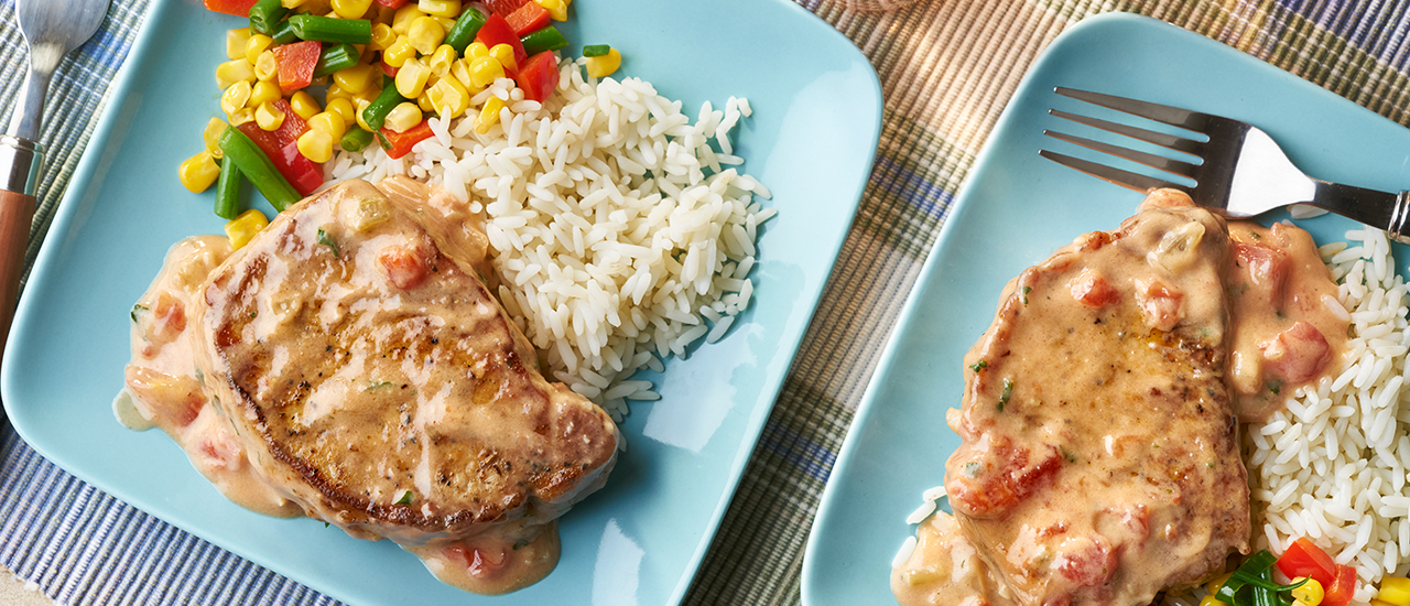 Saucy Creole Pork Chops