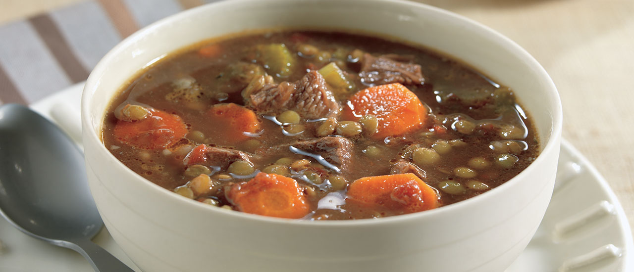 Slow Cooker Lentil Soup with Beef