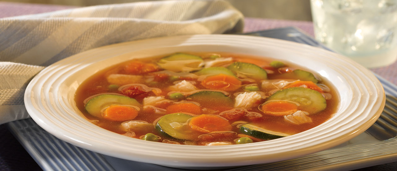 15-Minute Chicken Vegetable Soup