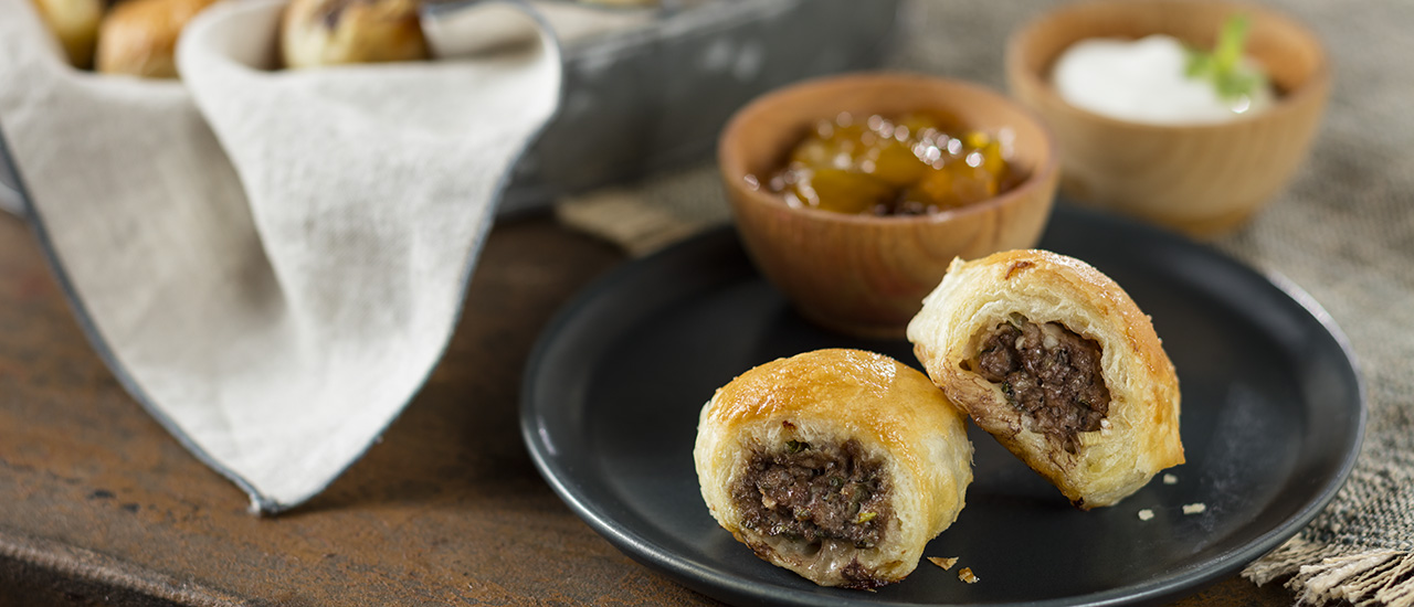 Minted Lamb Puff Pastry Bites